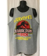 Universal Studios Jurassic Park the Ride Tank Top Sleeveless XL Vintage ... - $34.64