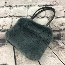 "6"" Mini Novelty Purse Gray Faux Fur Girls Handbag Shoulder Bag Fashion A... - $9.89"