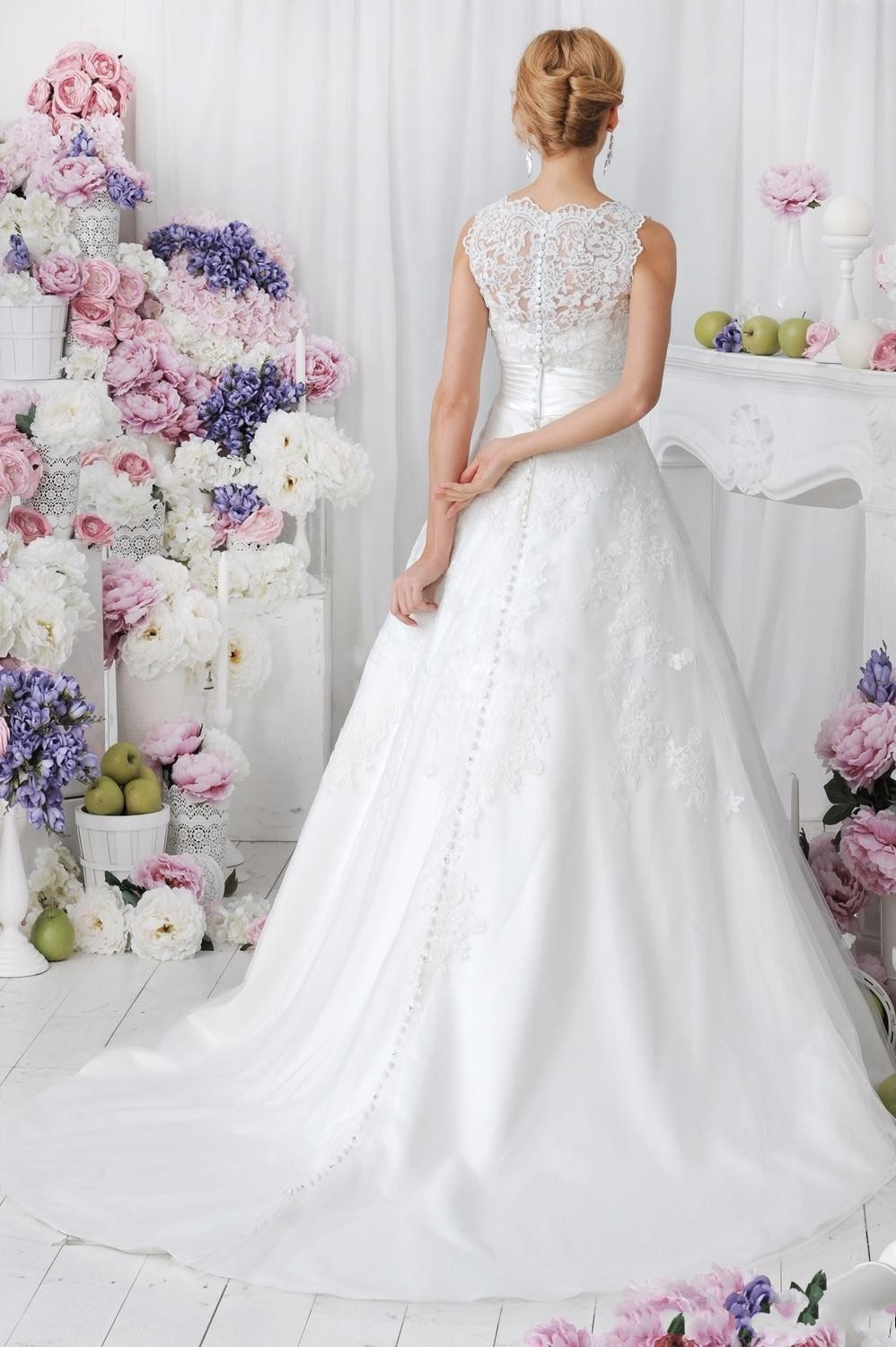 Lace Wedding Dress With Detachable Skirt at Bling Brides Bouquet online bridal s image 5