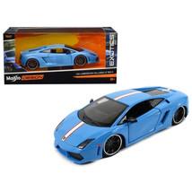 Lamborghini Gallardo LP 560-4 Satin Blue Exotics 1/24 Diecast Model Car ... - $31.82