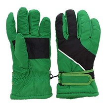 Insulated Curve Design Ski Gloves for Youth Green - £25.71 GBP