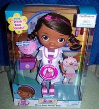"Disney Jr. Doc Mc Stuffins Wash Your Hands Singing Doll 11""H New - $36.50"