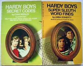 Hardy Boys 2 Lot Secret Codes and Super Sleuth Word Finds 1977 Tempo Boo... - $12.99