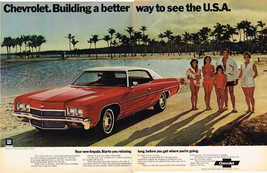 Vintage 1972 2-Page Magazine Ad Chevrolet Impala Ride Stays Smooth & Comfortable - $5.93