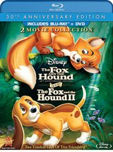 Disney Fox and the Hound 1 & 2 (Blu-ray/DVD 3-Disc Set 30th Anniversary Edition)