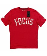 Under Armour x Project Rock Mahalo 'FOCUS' T-Shirt Loose Fit Red White 1... - $29.99