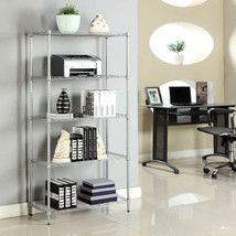 Modern Rectangle 5 layer Carbon steel Shelf Rack Assembly Storage Cabine... - $49.88