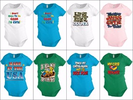 Funny Baby shirt Bodysuit Infant toddler Cute Diaper Crib Shower party Gift - $12.99