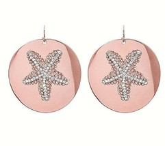 Rose Gold Star Fish Round Hoop Statement Style Dangle Earrings Fashion Jewelry - $6.99