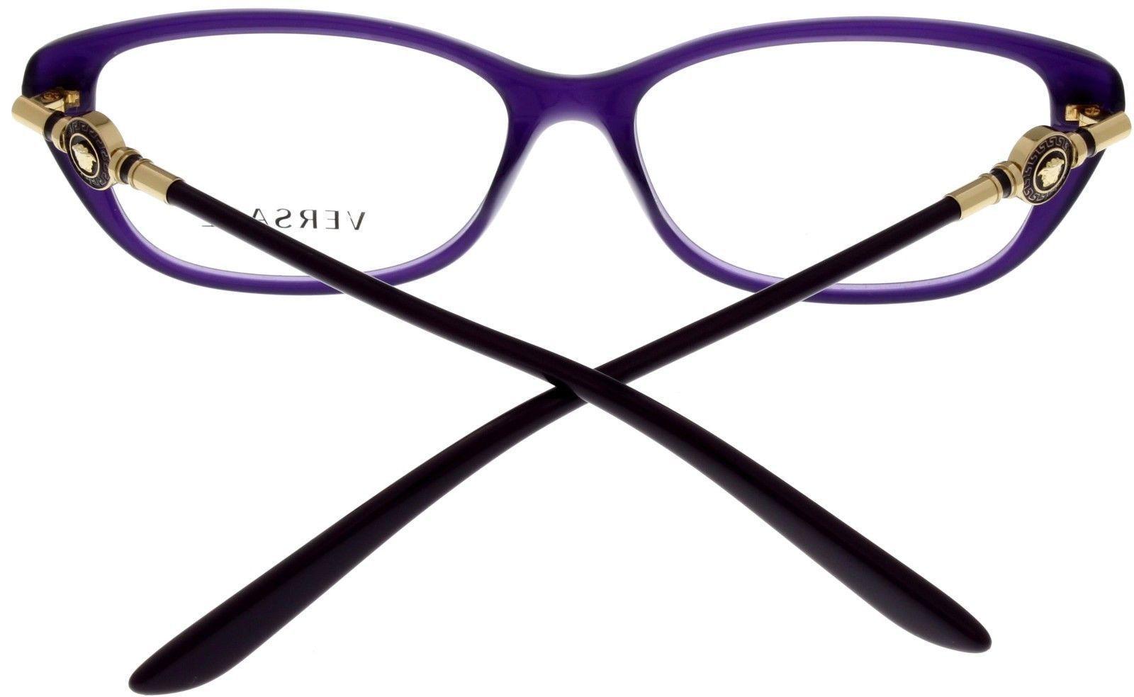 Versace Eyeglasses Frame VE3206 5095 Rectangular Opal Violet Fashion Women