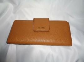 FOSSIL MADISON CLUTCH WALLET ORGANIZER BIFOLD CARD HOLDER SADDLE BROWN L... - $45.05