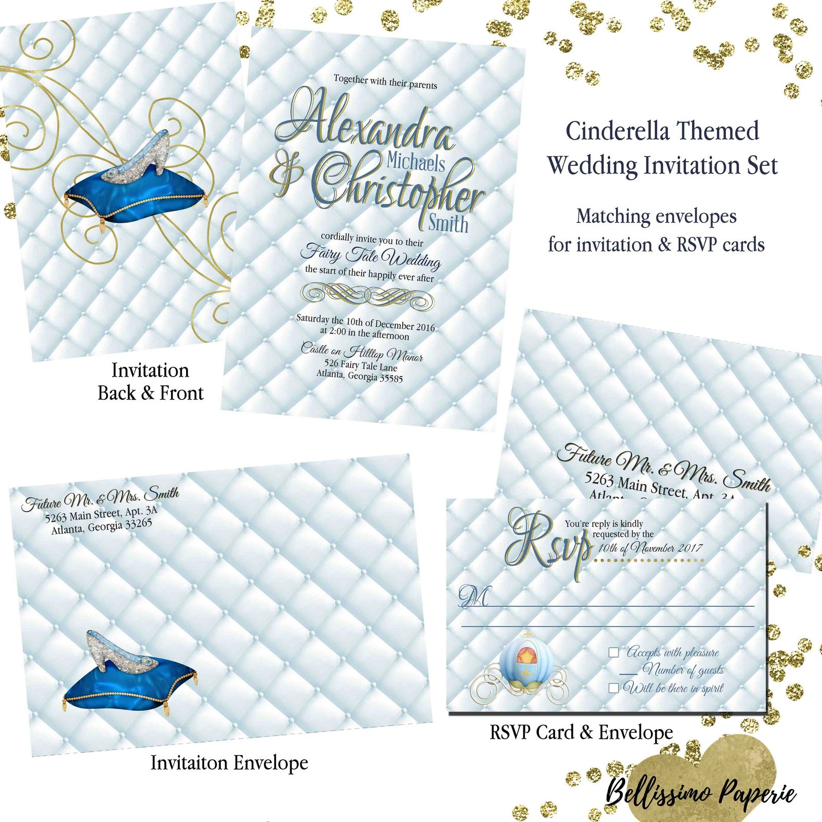 Cinderella Inspired Wedding invitation Set: and similar items
