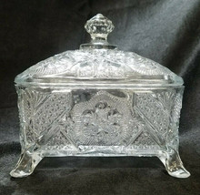 Antique Indiana Eapg Glass Footed Honey Dish (Circa 1905-1920) - $40.50