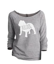 Thread Tank Bulldog Dog Silhouette Women's Slouchy 3/4 Sleeves Raglan Sweatshirt - $24.99+