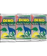 Dino Cards Dinamation Trading Cards 3 UNOPENED SEALED 10 Card Packs 1992 - $3.99