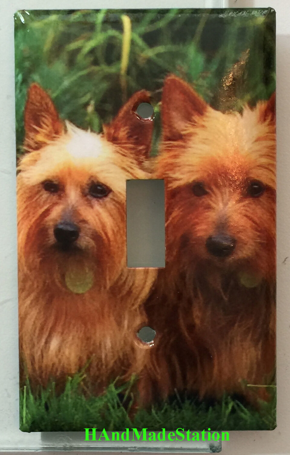 Australia Terrier Dog Light Switch Power Duplex Outlet Cover Plate Home decor