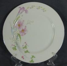 Studio Nova Pink Vista MA202 Dinner Plate Pink White Flowers Green Leave... - $16.95