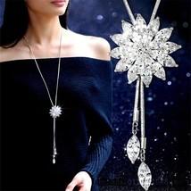 Fashion Bridal Engagement Crystal Rhinestone Snowflake Pendant Necklace ... - $16.50