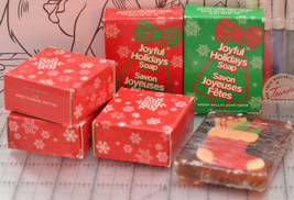 Specialty Holiday bar Soap Gift Set Christmas Bell Stocking glycerine Av... - $9.89