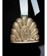 Antique Baby rattle / vintage Cathlolic medal / miraculous medal -  baby... - $75.00