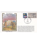 FORT ANDERSON WILMINGTON NC FEBRUARY 18 1990 CIVIL WAR COLORANO SILK - $37,75 MXN