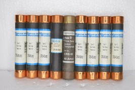 Lot of 9 NEW Gould Ferraz Shawmut CRS45 45 Amp Fuses Time Delay Type D 600V - $49.99