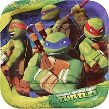 Teenage Mutant Ninja Turtles TMNT  Square Dessert Plates 8 Per Package NEW - $3.81