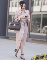 100% AUTH NEW BURBERRY PINK LACE LADIES TRENCH COAT JACKET image 8