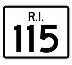 Rhode Island State Road 115 Sticker R4249 Highway Sign Road Sign Decal - $1.45+