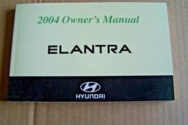 2004 Hyundai Elantra Owner's Manual New Original - $10.88
