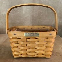 Longaberger 1998 Tour Edition Dresden Basket vintage woven - $24.50