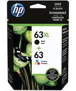 HP 63XL/63 High Yield Black,Standard Tri-color Ink Cartridges,L0R48AN - $62.49