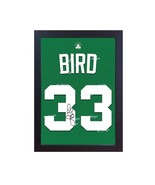 Larry Bird Boston Celtic NBA signed print CANVAS 100% cotton Framed - $20.46