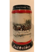 Vintage 1990 Budweiser Holiday Edition Beer Stein Susan Sampson Collectable - $23.38