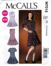 McCall's M7015 Petite Womens Misses Dresses Sewing Pattern Sizes 14-16-18-20-22 - $8.95