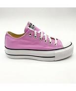 Converse CTAS Lift Ox Peony Pink White Black Womens Platform Shoes 566756C - $59.95
