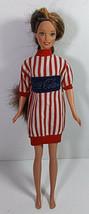 Vintage Barbie Doll Clothing Coca Cola Shirt Mattel Striped Coke Top Swe... - $9.99