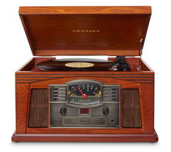 Crosley Cr42d-pa Lancaster 3-speed Turntable With Radio, Cd/cassette Player, Aux - $138.55