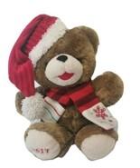 Dan Dee Snowflake Brown Bear Red Snowflake Scarf and Santa Hat Plush 2017 - $14.84