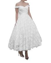 FNKS 1950s Vintage StyleTea Length Off Shoulder... - $94.99