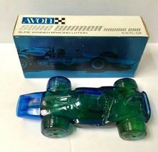 Vintage Full Avon Sure Winner Racing Car Decanter New In Box w/BRACING Lotion - $10.00