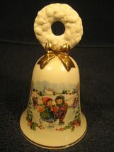"[Y1] 5"" Porcelain Bell Christmas 1986 Avon - $3.99"