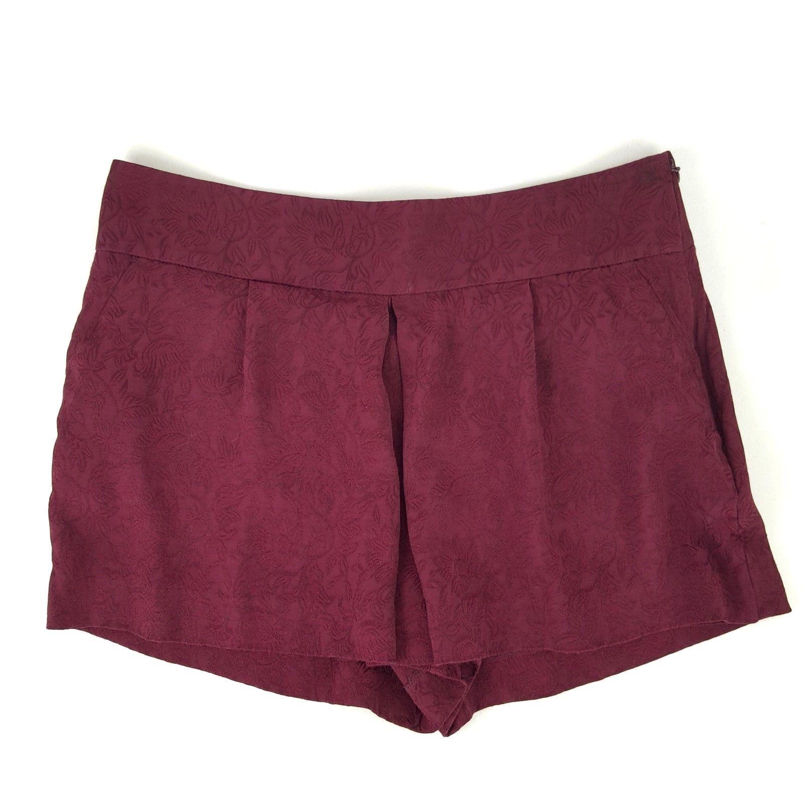 485dd576684 Ann Taylor Loft Womens Size 4 Burgundy Floral Damask Skort Shorts EUC -   14.95