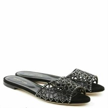 Sergio Rossi Tresor Women's Black Slip On Flats Flip Flop Sandals US 9 M... - £229.92 GBP