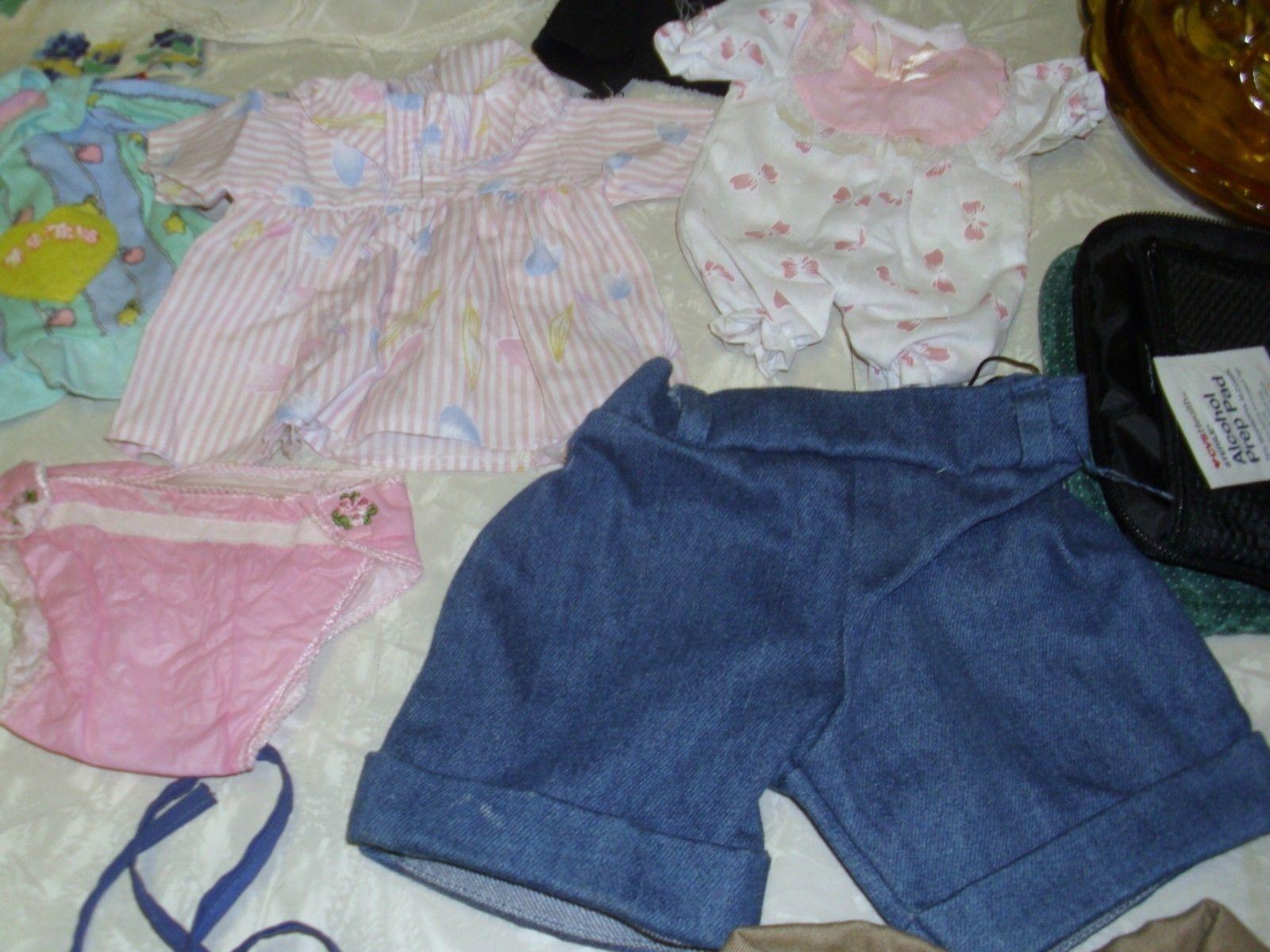 Lot of 14 Vintage Doll Clothing pcs. Troll Doll Vintage diaper dresses Lot 4