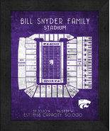 "Kansas State Bill Synder Family""Retro"" Stadium Seating Chart 13x16 Frame... - $39.95"