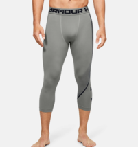 Under Armour Men's HeatGear Armour ¾ Graphic Leggings 1351821 Green / Bl... - $28.48
