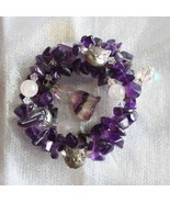 Judy Strobel Enchanting Amethyst & Fluorite Cat Bracelet - $49.95