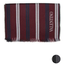Men Scarf wool stripes VALENTINO Striped 0513 - £65.96 GBP