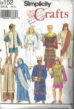 Simplicity 8152 Misses Men Boys NATIVITY Costumes Size Medium 38-40 in C... - $6.92